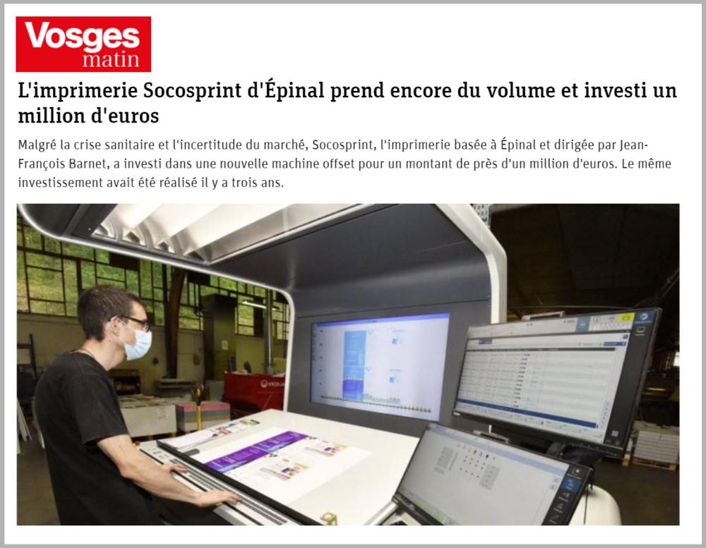 Vosges Matin - article